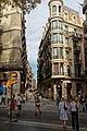Barcelona - Rambla de Canaletes - View NE into Calle de Santa Ana.jpg