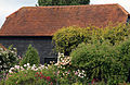 Barn with shrubs, Mashbury, Essex, England.JPG