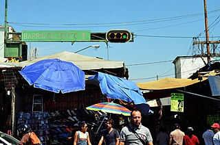 Tepito human settlement in Mexico
