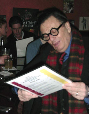 Barry Humphries - Humphries in Toronto, Canada, during Dame Edna: The Royal Tour North American tour, December 2000