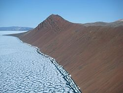 Basalt and Sea Ice Axel Heiberg Island Canada.jpg
