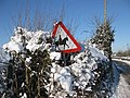 Battered sign near Eccleswall Court - geograph.org.uk - 1652619.jpg