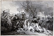Battle of Princeton - sketch by Trumbull