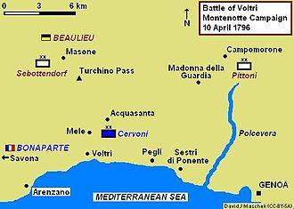 Montenotte Campaign - Battle of Voltri, 10 April 1796
