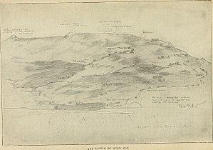 Battle of Spion Kop - A sketch of the summits of Spion Kop