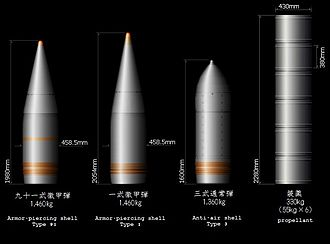 40 cm/45 Type 94 naval gun - Image: Battleship Yamato main gun shell