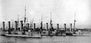 Bayan-class cruiser - The three surviving ships at anchor, circa 1913
