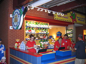 "Build-A-Bear Workshop - The ""Make Your Own Phanatic"" shop at Citizens Bank Park in Philadelphia, Pennsylvania, now closed."