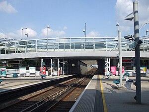 Beckton Park DLR station - Image: Beckton Park stn eastbound