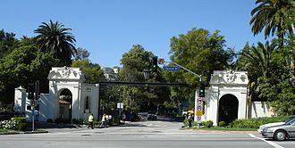 Sunset Boulevard - Sunset Blvd. at the West Gate of Bel Air