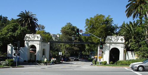 Sunset Blvd. at the West Gate of Bel Air Belair.jpg