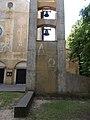 Bell tower at the Sacred Heart Church in Gyömrő, Pest County, Hungary.jpg