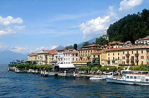 Bellagio, Lombardy - Image: Bellagio dal traghetto panoramio