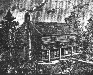 Bell Witch - An artist's sketching of the Bell home, originally published in 1894