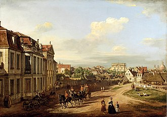 "Iron-Gate Square - Iron-Gate Square, with Lubomirski Palace, 18th century, by ""Canaletto"""