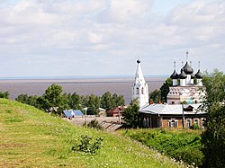 Belozersk with view on Beloye Lake, Vologda Oblast, Russia