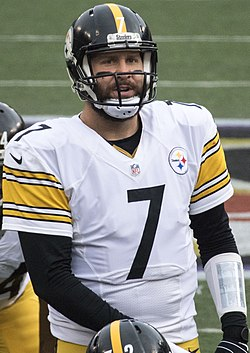 refer to caption. Roethlisberger with the Pittsburgh Steelers ... b97c7851f1