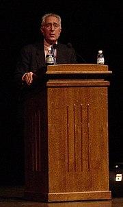 Stein speaking at Miami University in 2003