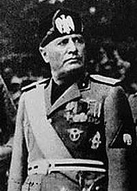 Il Duce Benito Mussolini