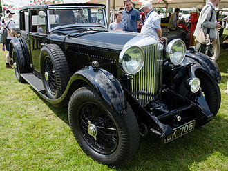 Bentley 8 Litre - Weymann saloon by Mulliner the second car made and W. O. Bentley's personal transport