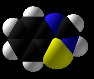 Benzothiadiazine - Image: Benzothiadiazine 3D Space Fill