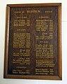 Berden St Nicholas interior - 03b priest list board.jpg