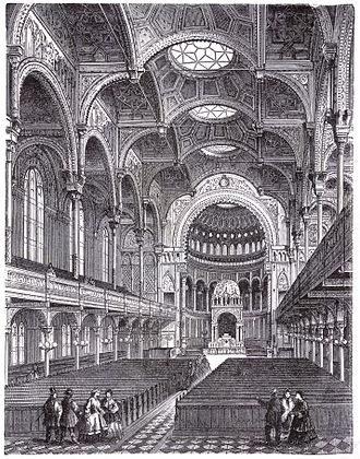 New Synagogue, Berlin - Image: Berlin Neue Synagoge Innenansicht Bus B