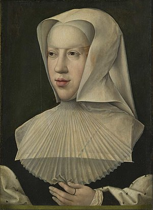 Sforza Hours - Portrait of Margaret by Bernard van Orley