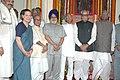 Bhairon Singh Shekhawat, the Lok Sabha Speaker, Shri Somnath Chatterjee, the Lok Sabha Deputy Speaker, Shri Charnjit Singh Atwal.jpg