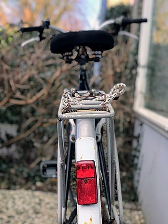 Bicycle lighting - Red light on the back of a bicycle