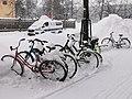 Bicycles Kirkkokatu Oulu 20210224.jpg