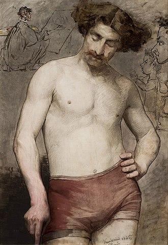 Anna Bilińska-Bohdanowicz - Image: Bilińska Semi nude male