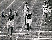 BillyMills Crossing Finish Line 1964Olympics