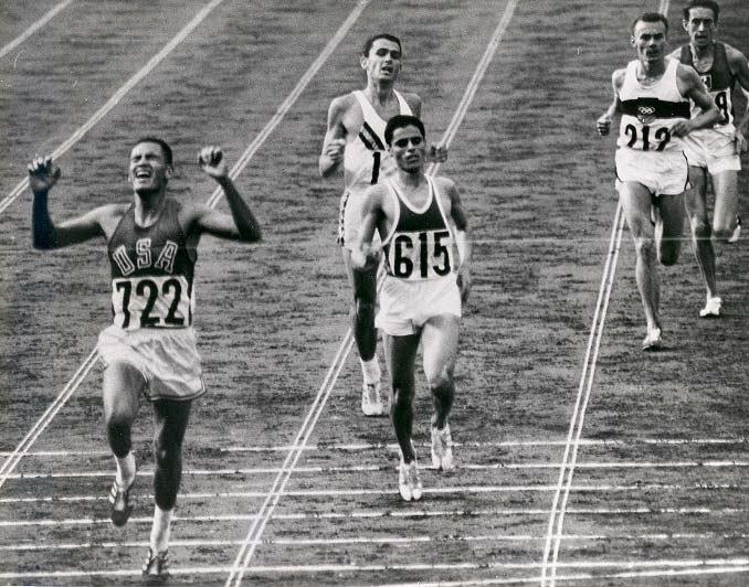 BillyMills Crossing Finish Line 1964Olympics