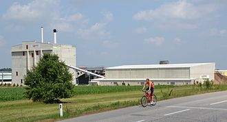 Steyr - Outside view of the biomass heating plant Steyr