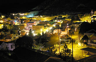 Bisbee, Arizona - Historic Old Bisbee at night, 2008