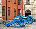 Blå kanoner på Vaxholms kastell.jpg