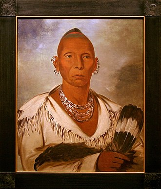 Sac and Fox Nation of Missouri in Kansas and Nebraska - Black Hawk, portrait by George Catlin, 1832