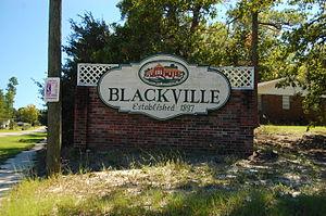 Blackville, South Carolina - Image: Blackville Sign SC
