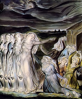 Parable of the Ten Virgins - The Parable of the Wise and Foolish Virgins (1822) by William Blake, Tate Gallery.