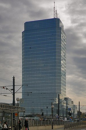 Błękitny Wieżowiec - Image: Blekitny Wiezowiec w Warszawie 2011 (2)