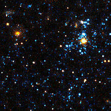 Blue blobs observés par Hubble.