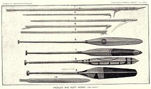 Boat hook - Yu'pik boathooks and paddles