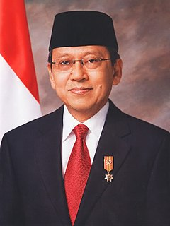 Boediono The eleventh Vice President of the Republic of Indonesia