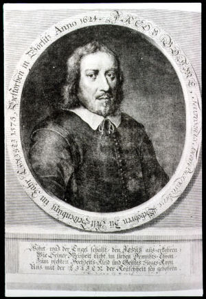 Jakob Böhme - Idealized portrait of Böhme from Theosophia Revelata (1730)