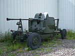 Bofors 40mm anti-aircraft gun, NELSAM, 27 June 2015.JPG