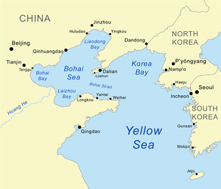Korea Bay northern extension of the Yellow Sea