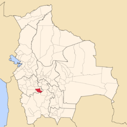 Location of Sebastián Pagador Province in Bolivia