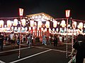 Bon odori at Tsukiji, end.jpg