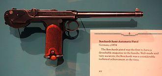 Borchardt C-93 - Image: Borchardt Semi Automatic Pistol, Germany, c. 1894 Glenbow Museum DSC00838
